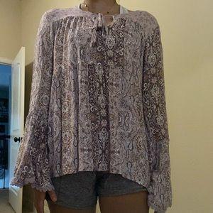 A long sleeve blouse